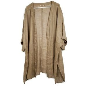 Soft Surroundings 3X Open Front Linen Duster